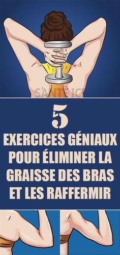 5 exercices géniaux pour éliminer la graisse des bras et les raffermir #maigrir #astucesminceur #astucesmaigrir #perdredupoids #manger #regime #diet #fitness #weightloss #yoga @santeici