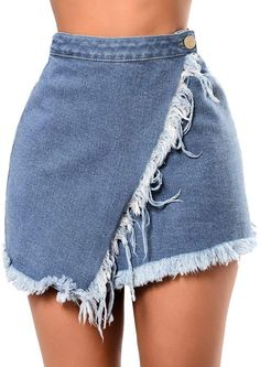 Denim skirt outfits - New Skirts Summer Women cowboy Mini High Waist Short Pockets Blue – Denim skirt outfits Denim Skirt Outfits, Blue Denim Skirt, Cute Outfits, Jeans Dress, Dress Ootd, Dress Outfits, Short Sexy, Denim Fashion, Fashion Outfits