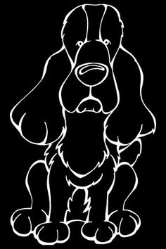 English Cocker Spaniel Decal Dog