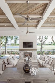 Casa Patio, Backyard Patio, Backyard Covered Patios, Outdoor Living Rooms, Outdoor Spaces, Indoor Outdoor, Plywood Furniture, Modern Furniture, Furniture Design