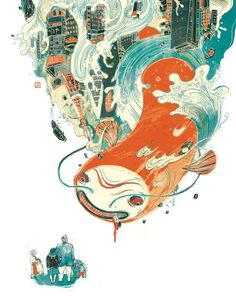 Asian Style Illustration Selected editorial illustrations by New York based illustrator Victo Ngai for several newspapers and magazines like: The New York Times and Plansponsor Magazine. More of the illustrations on WE AND THE COLOR Art And Illustration, Illustrations And Posters, Character Illustration, Communication Art, Ouvrages D'art, Art Design, Graphic Design, Monster, Collages