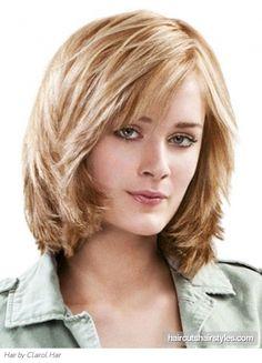 Amazing Medium Layered Hairstyle.