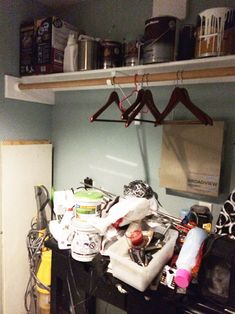 For years I've dealt with a decent-sized laundry room that had absolutely no storage (except for the shelf on one side). After my washing machine needed repair…