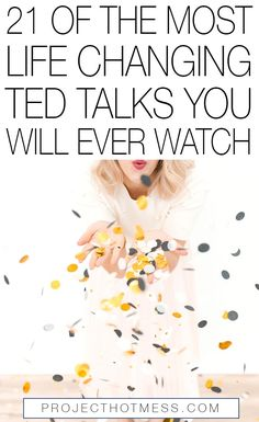 There's nothing quite as inspiring and motivating as a good TED Talk and these are some of the most life changing TED Talks you will ever watch. Mindset & Spirituality in Business Inspiration for Elizabeth Ellery Motivate Yourself, Live For Yourself, Improve Yourself, Self Development, Personal Development, Self Improvement Tips, Best Self, Self Help, Life Is Good