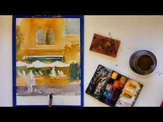 Part 1 of 2 Painting a Watercolour Street Scene Loosely - YouTube