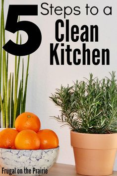 Feel like your kitchen is constantly dirty? Follow these 5 easy steps to keep it clean!