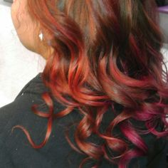 Fire red and orange done by me