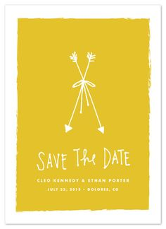 Save the Date Cards - Bow & Arrows