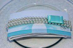 Tiffany e perle per il menù di nozze