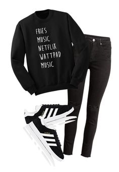 """""""Untitled #80"""" by zaibaapotato123 ❤ liked on Polyvore featuring adidas"""