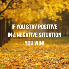 If you stay positive in a negative situation you win! ✊ #quotes #quoteoftheday #motivation #motivationalquotes #quotesaboutlife