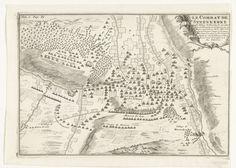 Anonymous | Slag bij Steenkerke, 1692, Anonymous, 1701 - 1703 | Kaart van de slag bij Steenkerke in Henegouwen waarbij het Franse leger onder de duc de Luxembourg de geallieerden onder koning Willem III versloeg, 3 augustus 1692. Gemerkt linksboven: Tom. 3. Pag. 89.