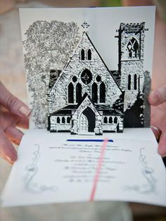 25 Unexpected Invite Ideas You'll Love - Wedding Invitations - Wedding Stationery Pop-Up Invitations = LOVE  #theKnot