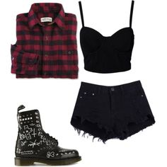 Untitled #94 by itsjusttrinity on Polyvore featuring mode, SELECTED and Dr. Martens