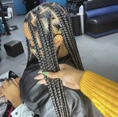Black Girl Braids, Braided Hairstyles For Black Women, Braids For Black Hair, Wig Styles, Curly Hair Styles, Natural Hair Styles, Baddie Hairstyles, Box Braids Hairstyles, Slick Hairstyles
