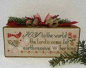 Joy to the World Cross Stitch Christmas Decor