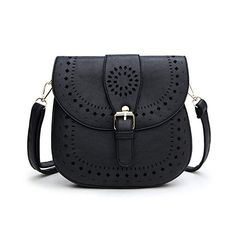 fb8719c92e184d Forestfish Ladie's PU Leather Vintage Hollow Bag Crossbody Bag Shoulder Bag
