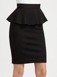 Fashion for this fall Black Peplum Skirt. LOVE the peplum detail on this pencil skirt!