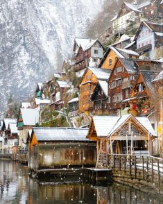 Another incredible destination for winter is Hallstatt in Austria! This shot is from📸 Visit Austria, Austria Travel, Travel Around The World, Around The Worlds, Culture Of Italy, Baroque Architecture, Mountain Village, Great Pic, France