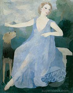 Portrait of Valentine Tessier by Marie Laurencin, 1933