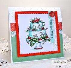 Dream Wedding stamp set by Power Poppy, card design by Christine Okken.