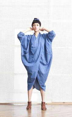 Cocoon Dress, 69 Denim absolutely NO Fashion Details, Look Fashion, Womens Fashion, Fashion Design, Fashion Trends, Tienda Fashion, Estilo Jeans, Cocoon Dress, Design Textile