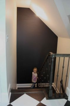 chalk wall on the landing...