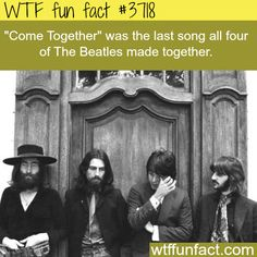 The last song the Beatles made together - WTF fun facts - Shenandoah Valley Music Festival - Free Wtf Fun Facts, Funny Facts, Random Facts, Bizarre Facts, The More You Know, Good To Know, Great Bands, Cool Bands, What The Fact