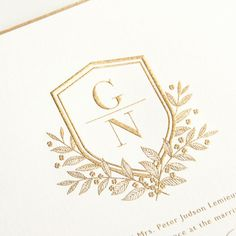 Wedding Monogram Crest                                                       …