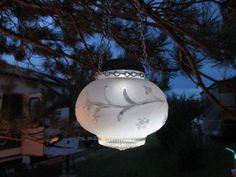 Vintage globe solar light
