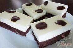 Foltos csokoládés-joghurtkrémes szelet