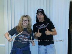 Coolest Homemade Wayne's World Last Minute Halloween Costume for a Couple