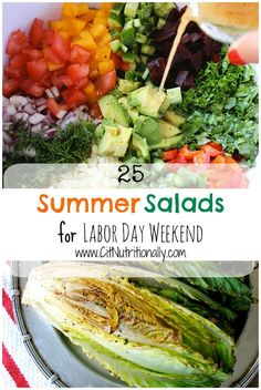 {Labor Day BBQ Recipes} Summer Salads You Need At Your Labor Day BBQ | C it Nutritionally #summer #healthyeating #healthyfood