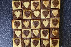 white and dark hearted brownies | smittenkitchen.com