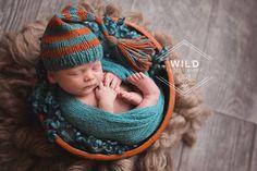 Newborn boy - orange and teal www.wildphotographybytori.com  #newbornphotography #iowaphotographer #newbornphotographer Wild Photography, Image Photography, Newborn Photo Props, Newborn Photos, Baby Poses, Newborn Photographer, Teal, Crochet Hats, Orange