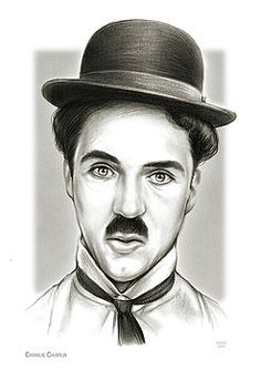 Charlie Chaplin Wall Art - Drawing - Charlie by Greg Joens Pencil Portrait Drawing, Pencil Art Drawings, Art Sketches, Rose Tattoos For Men, Black Panther Art, Jesus Painting, Celebrity Drawings, Graphite Drawings, Charlie Chaplin