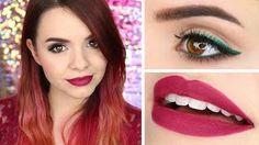 makeup tutorial ombre glitter liner christmas inspired allyemxmas