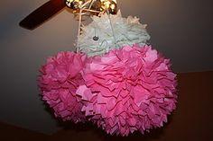 Gigantic Hanging Tissue Paper Flower