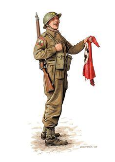 Polish soldier-Monte Cassino 1944
