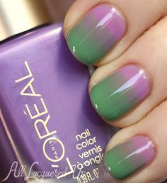 loreal miss candy syrup gradient jelly nail art 500x547 LOreal Paris Miss Candy Colour Riche Nail Polish Collection Swatches & Review