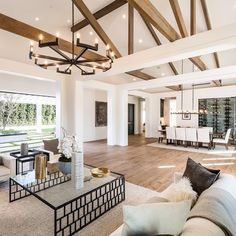 Home Renovation Modern 'This Is Us' Star Nabs a Freshly Built Modern Farmhouse in Encino - DailyDeeds - April 2019 - The whole cast can enjoy coming over to watch their hit show in the media room or grill out next to the sleek pool. House Design, Rustic House, Interior Design, House Rooms, Home Living Room, House, Home, Modern Rustic Homes, Home Decor