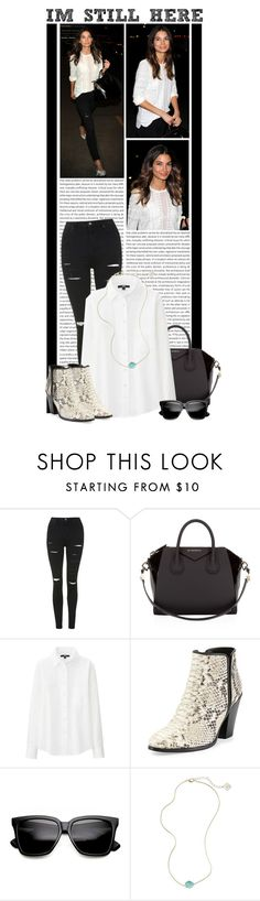 """""""#1144 (Lily Aldridge)"""" by lauren1993 ❤ liked on Polyvore featuring Topshop, Givenchy, Uniqlo, Giuseppe Zanotti and Kendra Scott"""