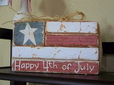 Flag made from 2x4