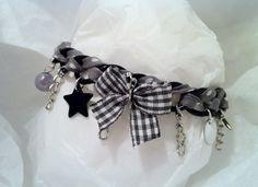 Bracelet féérique tendance gris et noir