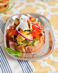 Grilled Vegetable Bruschetta Recipe on Food & Wine