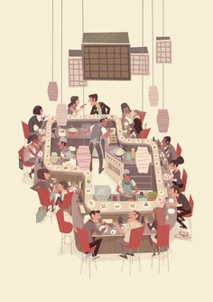 - sushi train on Behance