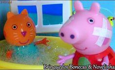 Peppa Pig Em Português Brasil Completo. Peppa Pig dá banho de Espuma na Candy Cat Bath time