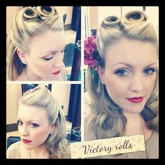 Pin Up Style Victory Rolls