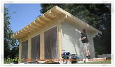 How to look after a summerhouse; preserve then stain or paint!