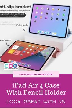 Need iPad Air case and accessories? Check out our top iPad Air 4 case, iPad Air 4 cases aesthetic, iPad Air 4 case with pencil holder, iPad Air 4 case cute, leather iPad Air Case, iPad Air case cute, best iPad Air Case, and functionality to your iPad Air! iPad case, iPad accessories, iPad Air case protective, iPad Air 4 case blue. We have iPad Air cases for men, women, and kids at prices starting at $27.99 #ipad #ipadcase #ipadair #ipadaircase #ipadaircover #ipadair4 #ipadair4case #ipadair4cover Best Ipad Air Case, Ipad Case, Ipad Accessories, Pencil Holder, Purple Leather, Cool Designs, Cases, Iphone, Check